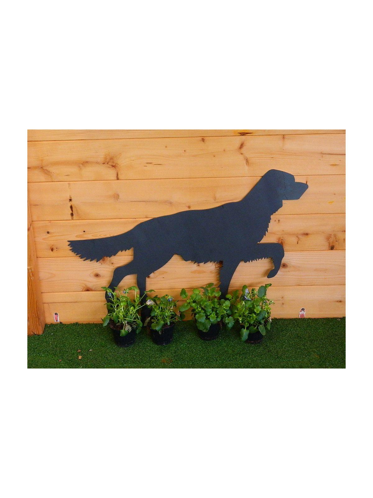 Animali Da Esterno cane setter in ferro acciaio al corten da esterno animale da giardino  taglio laser